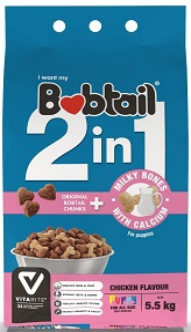 BOBTAIL PUPPY 2 IN 1 MILKY BONES CHICKEN 5.5KG
