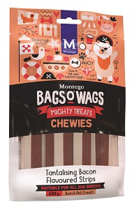 BAGS O' WAGS TANTALISING  BACON CHEWIES 120G