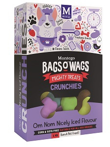 BAGS O' WAGS OM NON NICELY ICED CRUNCHIES 1KG