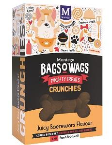 BAGS O' WAGS JUICY BOEREWORS CRUNCHIES 1KG