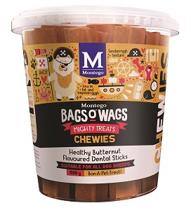 BAGS O' WAGS HEALTHY BUTTERNUT DENTAL STICKS 500G