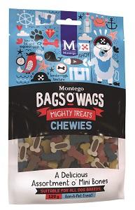BAGS O' WAGS O' MINI BONES CHEWIES MIX 120G
