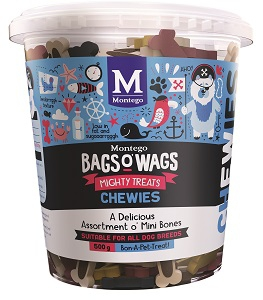 BAGS O' WAGS O' MINI BONES CHEWIES MIX 500G