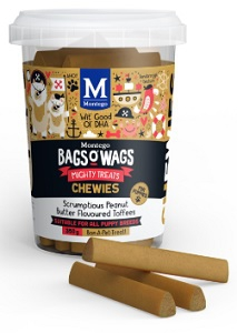 BAGS O' WAGS PUPPY PEANUT BUTTER CHEWIES 350G