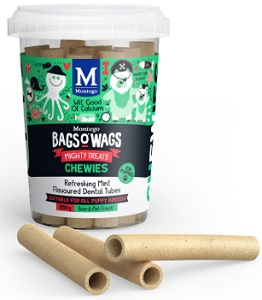 BAGS O' WAGS PUPPY MINT DENTAL TUBE CHEWIES 350G