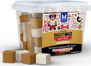 BAGS O' WAGS CARAMEL & COND. MILK SQUISHIES 400G