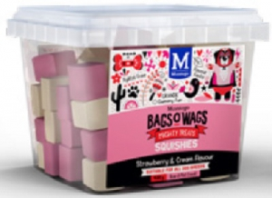 BAGS O' WAGS STRAWBERRY & CREAM SQUISHIES 400G