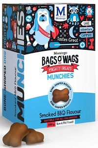 BAGS O' WAGS SMOKED BBQ MUNCHIES 350G