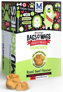BAGS O' WAGS ROAST BEEF MUNCHIES 350G
