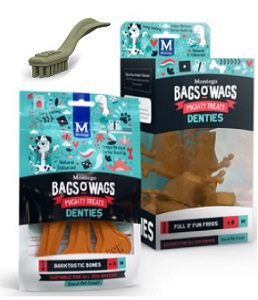 BAGS O' WAGS DENTIES TIP TOP TOOTHBRUSH X-SML 60G