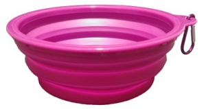 PAWISE COLLAPSIBLE SILICONE TRAVEL BOWL 500ML