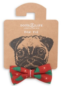 DOG'S LIFE CHRISTMAS BOW TIE SMALL 6X4CM