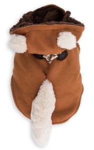DOG'S LIFE FOX HOODED COAT ORANGE X-SMALL
