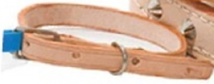 MARLTONS STITCHED LEATHER COLLAR 12MM