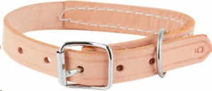 MARLTONS STITCHED LEATHER COLLAR 16MM