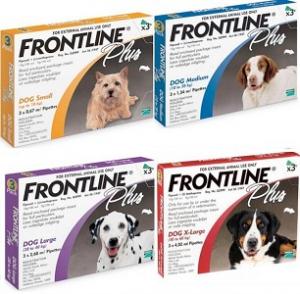 FRONTLINE PLUS TICK & FLEA SPOT-ON MED 10-20KG 3PK