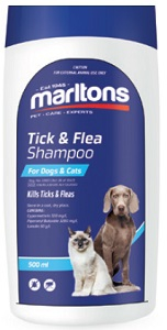 MARLTONS TICK & FLEA SHAMPOO 500ML