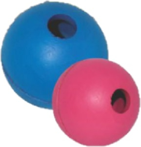 DARO RUBBER BALL WITH BELL ASSTD. 6.3CM