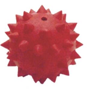 DARO RUBBER HEDGEHOG BALL WITH BELL ASSTD. 7CM