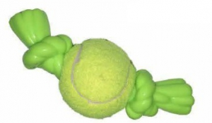 DARO TENNIS BALL W/RUBBER TASSLES GREEN 17CM