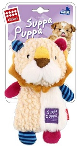 GIGWI SUPPA PUPPA SQUEAKING LION 17.5CM