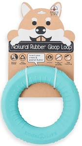 DOG'S LIFE NATURAL RUBBER GLOOP LOOP TURQUOISE