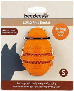 BEEZTEES SUMO DENTAL PLAY ORANGE SMALL 6X6X8.5CM