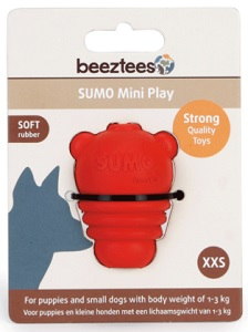 BEEZTEES SUMO DENTAL PLAY RED XX-SMALL 4.5X4.5X6CM
