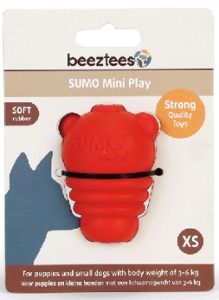 BEEZTEES SUMO DENTAL PLAY X-SMALL RED 5X5X7CM