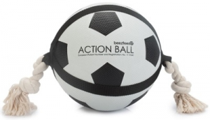 BEEZTEES ACTION BALL & ROPE BLACK & WHITE 22CM
