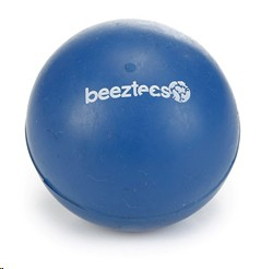 BEEZTEES SOLID RUBBER BALL BLUE LARGE 6.5CM