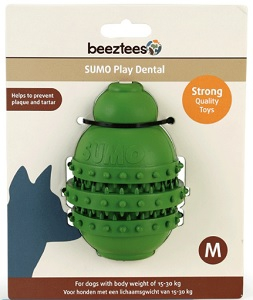BEEZTEES SUMO PLAY DENTAL TOY GREEN MEDIUM 9X12CM