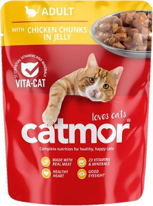 CATMOR ADULT CHICKEN IN JELLY 85G