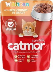 CATMOR KITTEN BEEF IN GRAVY 85G