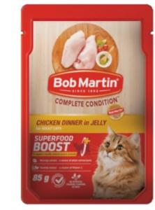 BOB MARTIN ADULT CHICKEN IN JELLY 4X85G
