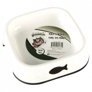 PAWISE PRINTED DISH WHITE WITH BLACK  SMALL