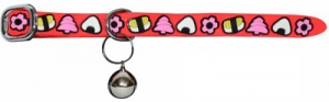 DARO CANDY PRINT SILICONE COLLAR WITH BELL