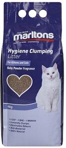 MARLTONS CLUMPING LITTER BABY POWDER 4KG