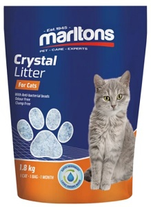 MARLTONS CRYSTAL LITTER FOR CATS 1.8KG