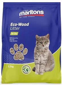 MARLTONS ECO-CAT WOOD BASED PELLETS 5KG