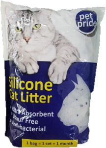 PET PRIDE SILICONE CAT LITTER 1.8KG