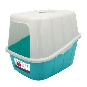 M-PETS QUENA CAT LITTER BOX BLUE & WHITE