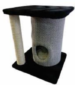 PAWSOME 2-TIER POST WITH DRUM HOUSE