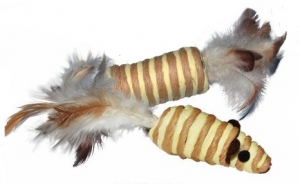 DARO PAPER TOYS WITH FEATHER TAILS ASSTD. 10CM