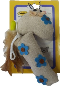 DARO MOUSE TOY W/FEATHERS & BELL 17CM