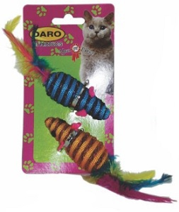 DARO FEATHER ROPE MOUSE 2PK