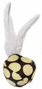 DARO SOFT BALL WITH FEATHERS 12CM