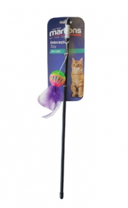 MARLTONS FEATHER BALL & FEATHER WAND 50CM