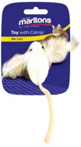 MARLTONS CRAZY EAR MOUSE WITH CATNIP 15CM