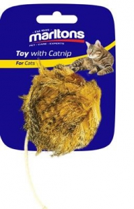 MARLTONS FUZZY MOUSE WITH CATNIP 10CM